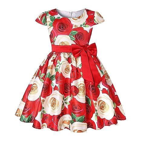 Baby Girl Vintage Dress Vestido Estampado De Flores Para
