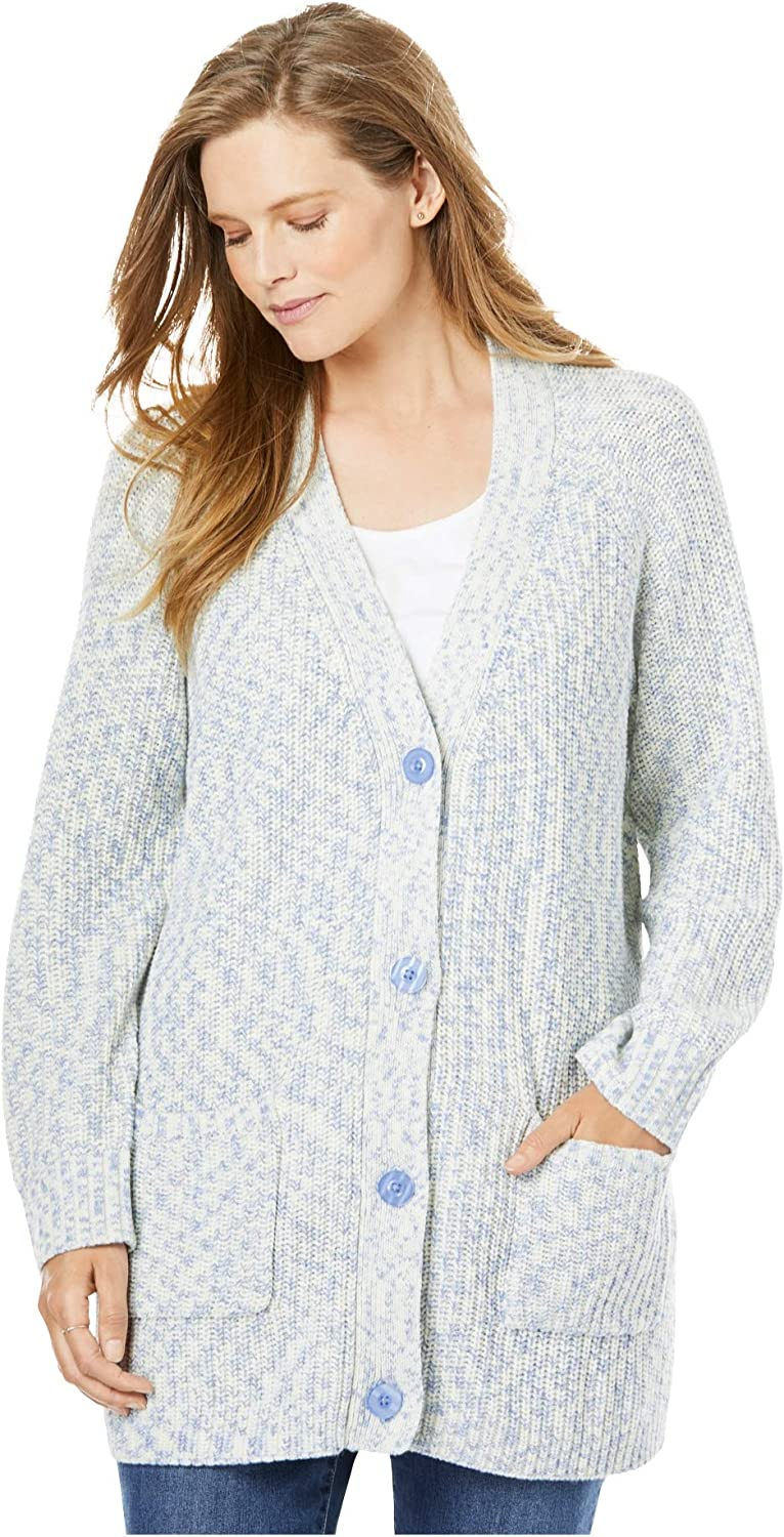 Woman Within Womens Plus Size Mock Neck Shaker Sweater