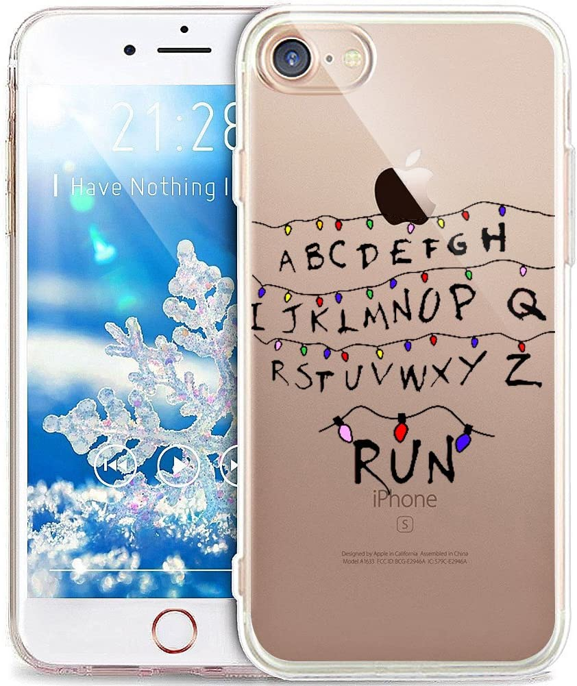 "iPhone 6S Case,iPhone 6 Case,Xmas Christmas Snowflake Serie,Soft Silicone Rubber Bumper Case,Crystal Clear Soft Clear Silicone Back Case Cover for iPhone 6S / 6 4.7"",Christmas Lantern Letters"