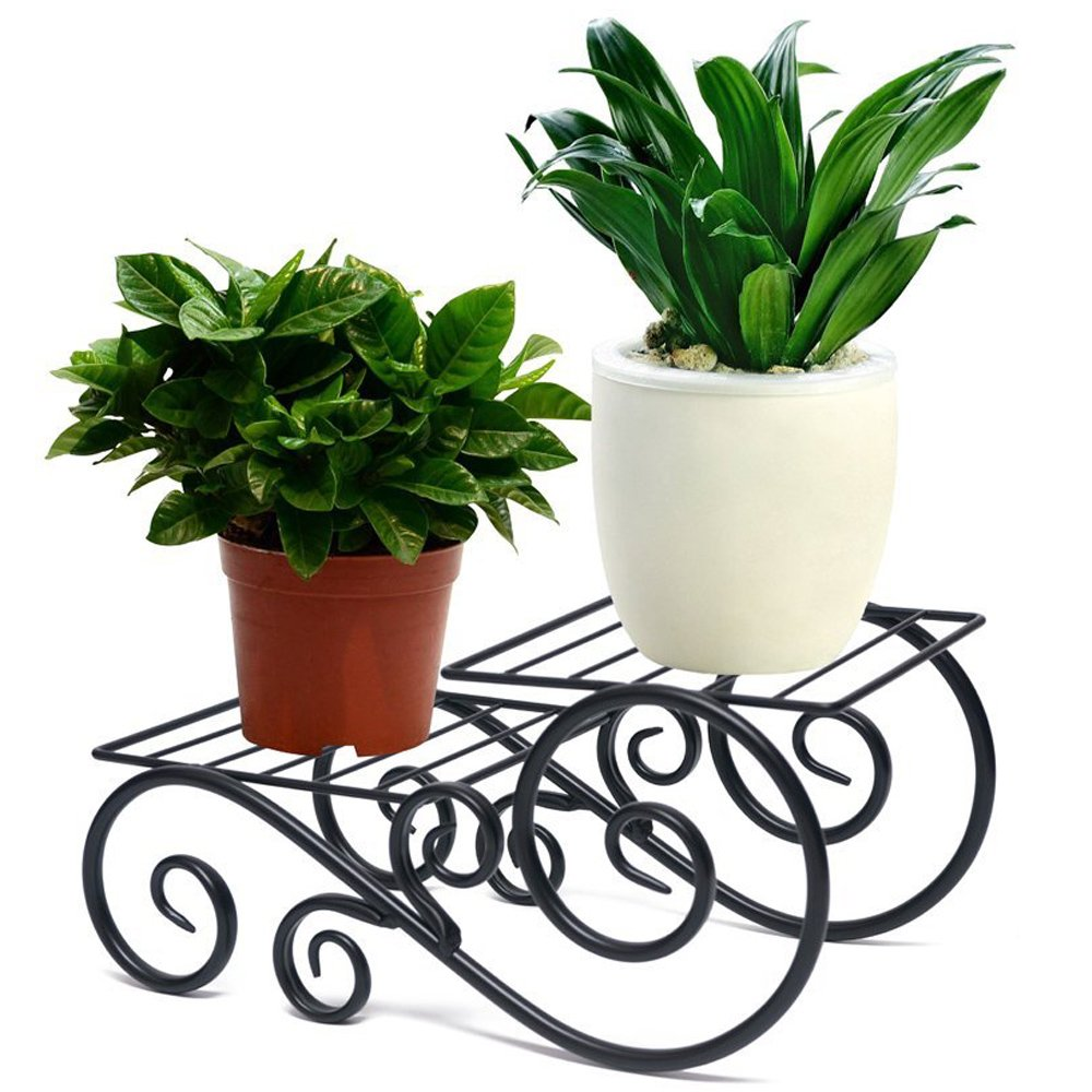Tall planters shallow planter flower pot stand decor for Indoor decorative plants