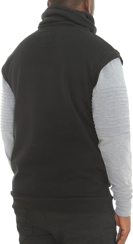 Bleecker /& Mercer Men/'s Fleece Biker Funnel High Neck Sweatshirt