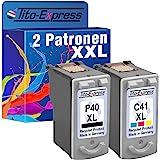 PlatinumSerie® Farbset 2 Patronen für Canon PG-40 XL & CL-41 XL Pixma MX300 IP2200 IP2500 IP2600 MP140