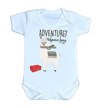 39679f5bc1bb5 Amazon.com: InkCallies Alpaca Bag Adventure Awaits Toddler Clothes Alpaca  Baby Shower Alpaca Baby Gifts Pun Baby Gift Unisex Gift: Clothing