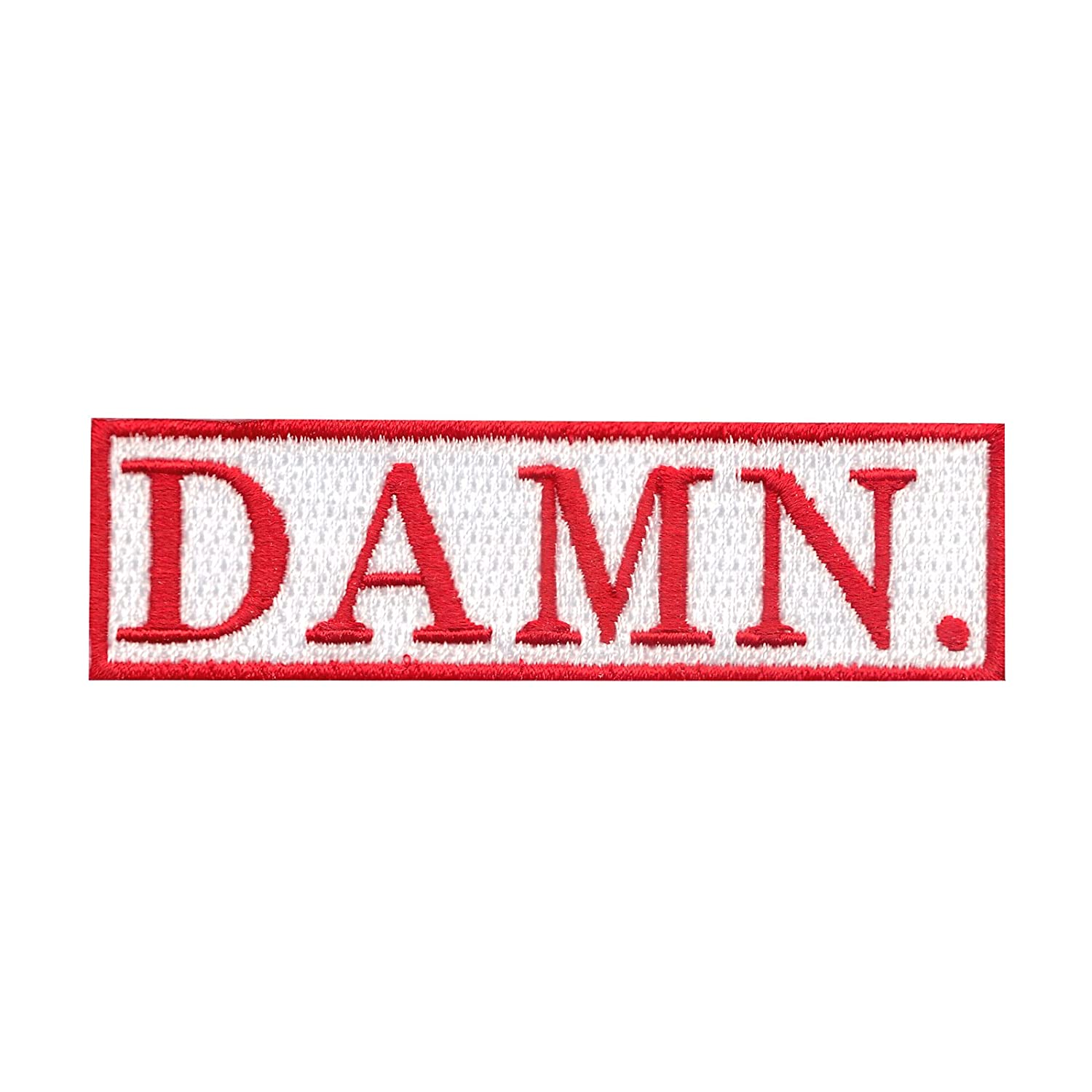 """Damn"" Motif Iron On Embroidered Applique Patch by Patch Collection"