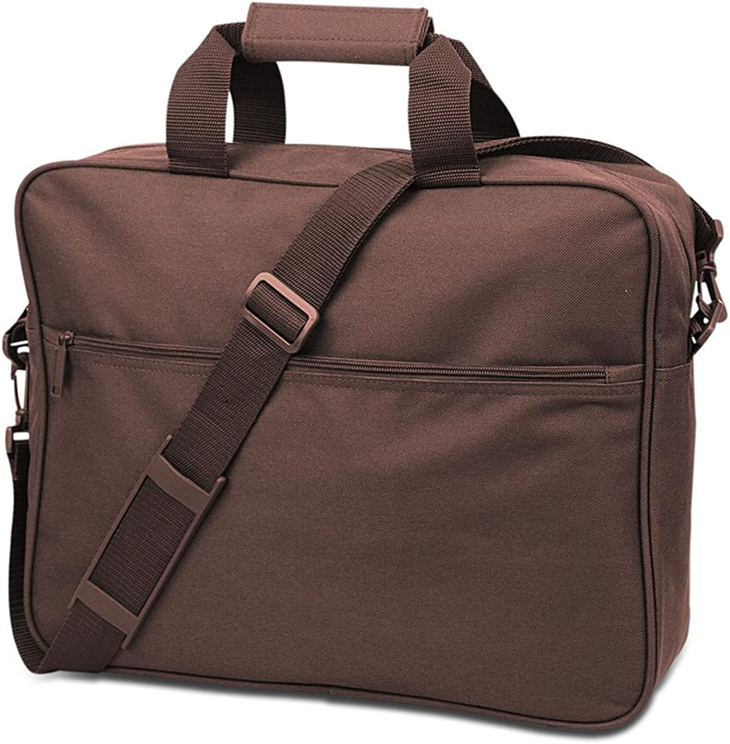 UltraClub Convention Briefcase 7703 -Brown,One Size
