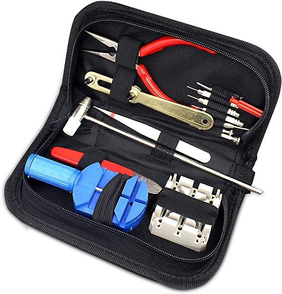 Uhr Batteriewechsel Kit Werkzeug Set Uhrmacherwerkzeug Uhren Set Öffner 16tlg