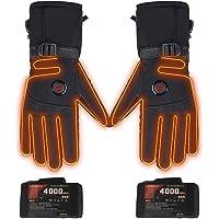 Verwarmbare handschoenen met accu, elektrische verwarmde motorhandschoenen voor mannen en vrouwen, instelbare…