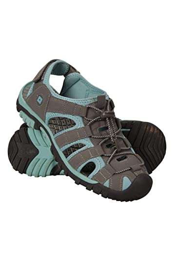 6fe552c52a4a6 Mountain Warehouse Trek Womens Shandal Beach Shoes -Summer Sandals Blue 6 M  US Women