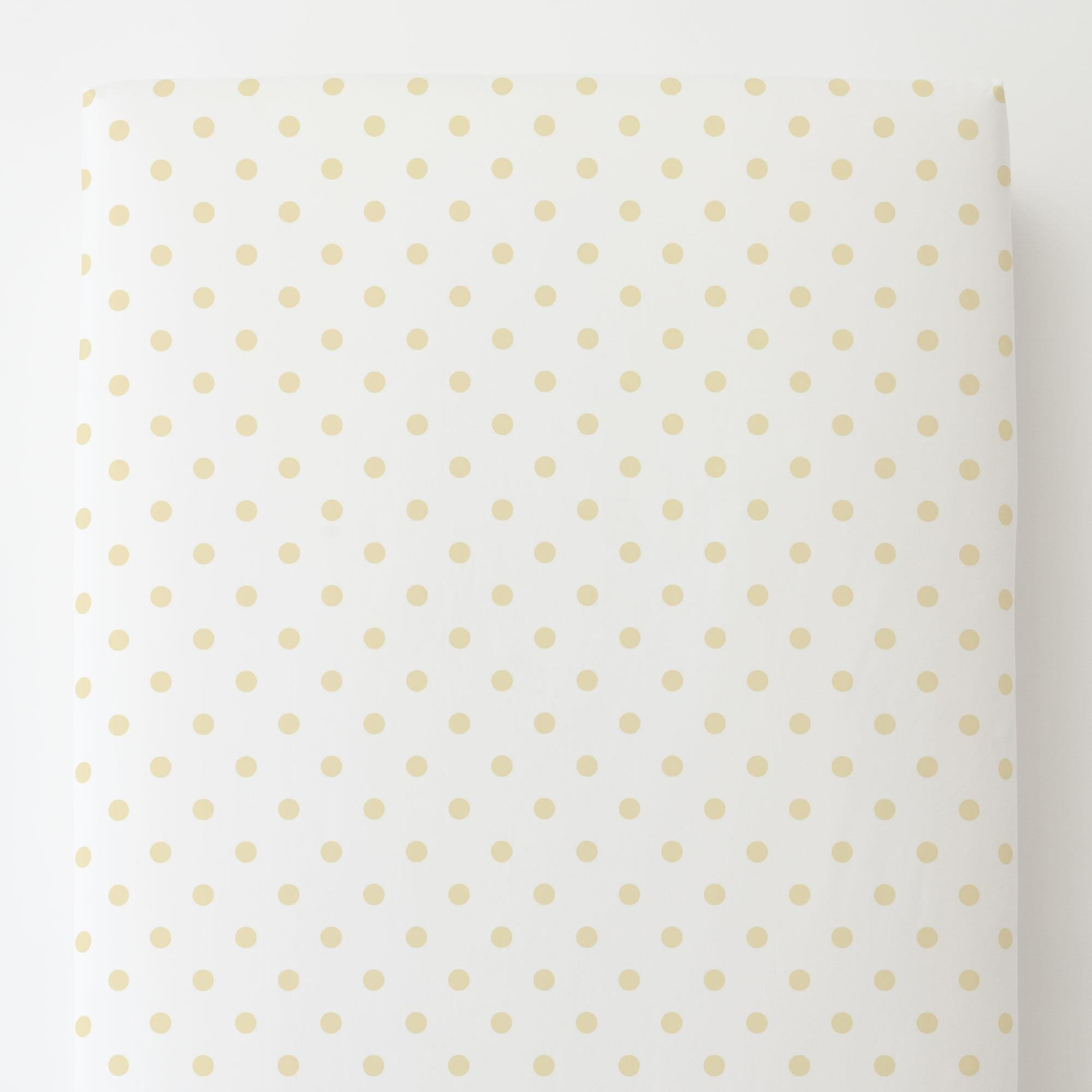 Carousel Designs White and Pastel Yellow Dot Toddler Bed Sheet Fitted