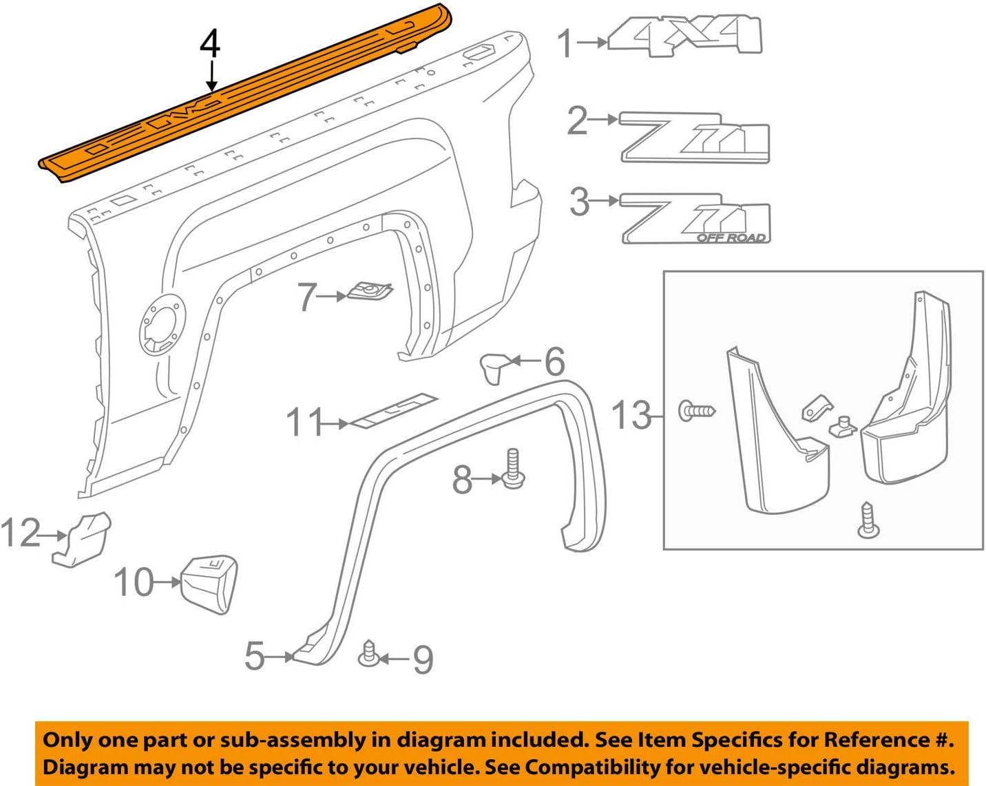 22763051 Genuine GM Molding Part#