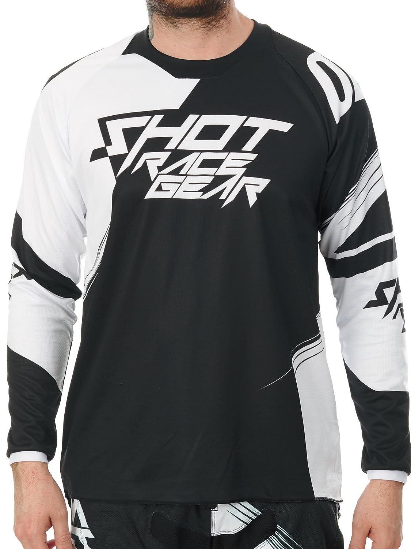 SHOT - Camiseta de Manga Corta para Hombre, Color Negro