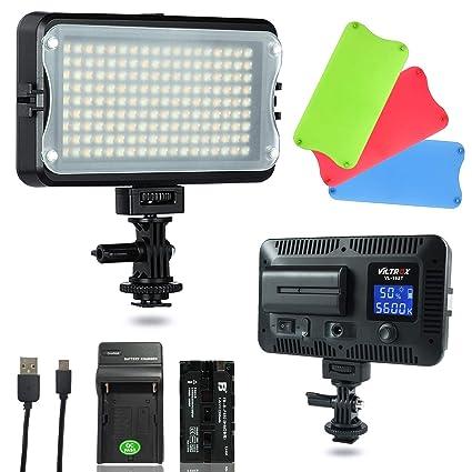 VILTROX VL-162T CRI95 + Dimmable 3300K-5600K Bicolor Luz Video LED ...
