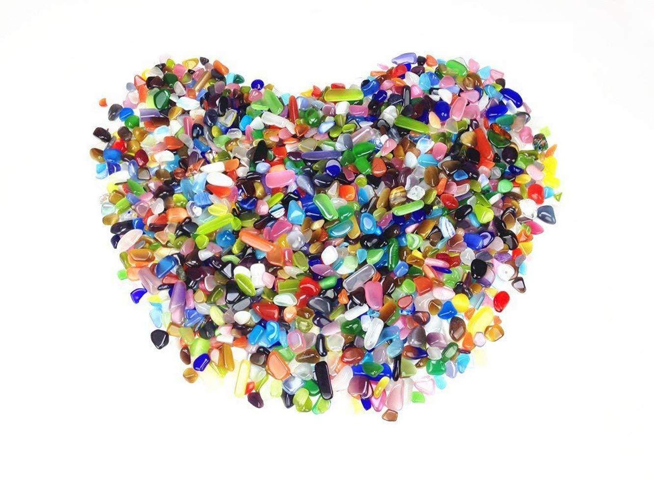 Piedras de Cristal de Roca Decorativas para acuarios, terrarios, Jardines, macetas, Cristales, decoración de jarrones, MUZIZS1: Amazon.es: Jardín