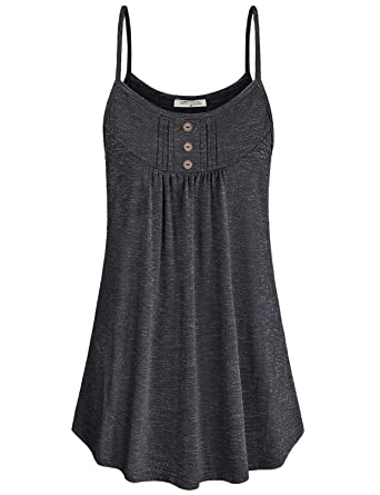 8c7caa9fd9 SeSe Code Loose Tank Tops for Women,Loose Fit Sleeveless Tees with Leggings  Scoop Neck