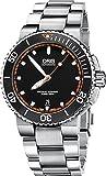 Oris Aquis Mens Date 42MM Automatic Black Face Stainless Steel Bracelet Swiss Watch 73376534128MB
