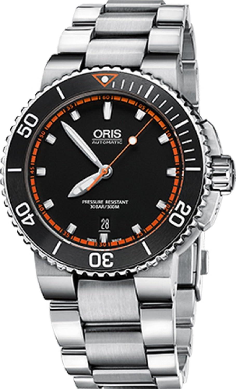 Oris Aquis Mens日付自動ブラック42 mm Faceステンレススチールブレスレットスイス時計73376534128 MB B01MTUMAP3