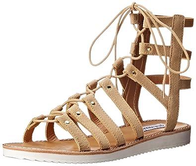 ed60972f13f Steve Madden Women s MAYBIN Flat Sandal Sand Suede 6 M US