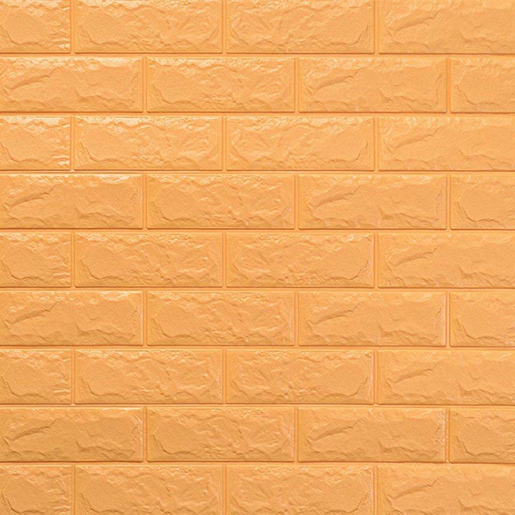 3D立体壁紙 DIYレンガ調壁紙シール ウォールステッカー 軽量レンガシール 壁紙シール 自己粘着 防水 多色選択 B07DJ5GPM5 70*77cm(50枚入れ)|ベージュ ベージュ 70*77cm(50枚入れ)
