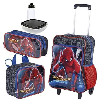 c262edfc8b Kit Mochila Infantil Spider Man 18M Plus Lancheira Estojo Sestini ...