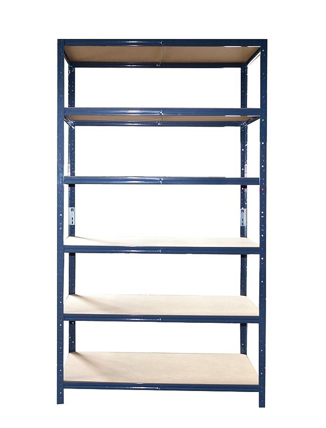 verzinkt oder blau beschichtet Blau 200x120x50cm Gr/ö/ßen und Farben w/ählbar Steckregal Lagerregal Kellerregal Regal Werkstattregal 875kg