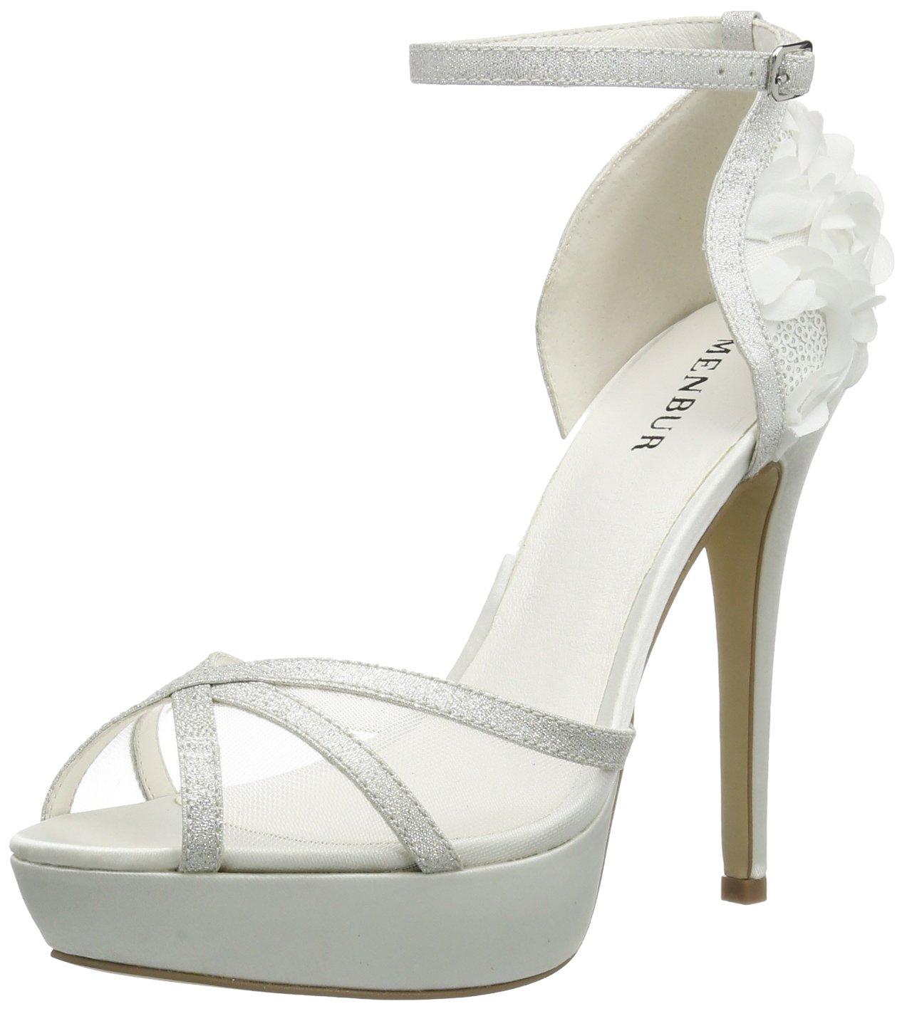 Menbur Wedding Blanc 15825 Iria, Sandales Plateau Femme Blanc - Iria, Elfenbein (Ivory 04) 93642d8 - automaticcouplings.space