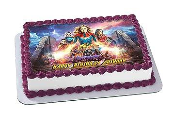 EdibleInkArt Avengers Endgame Edible Cake Topper Personalized Birthday 1/4  Sheet Decoration Custom Sheet Party