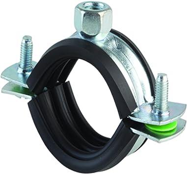 32 mm Abrazaderas de Tubo 20 Piezas Abrazaderas de Correa de Tubo en Forma de U Soporte de Tensi/ón de Conducto de Tubo de Acero Inoxidable