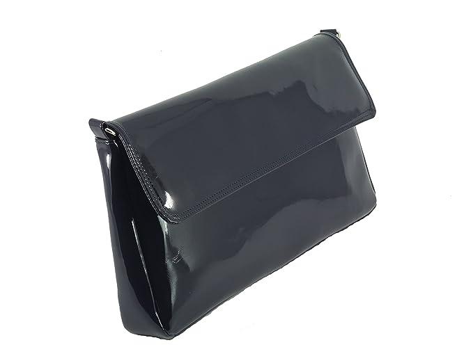 LONI 3 Compartimento de Maravillas Clutch Bag brillante Patente - 4 colores: Amazon.es: Zapatos y complementos