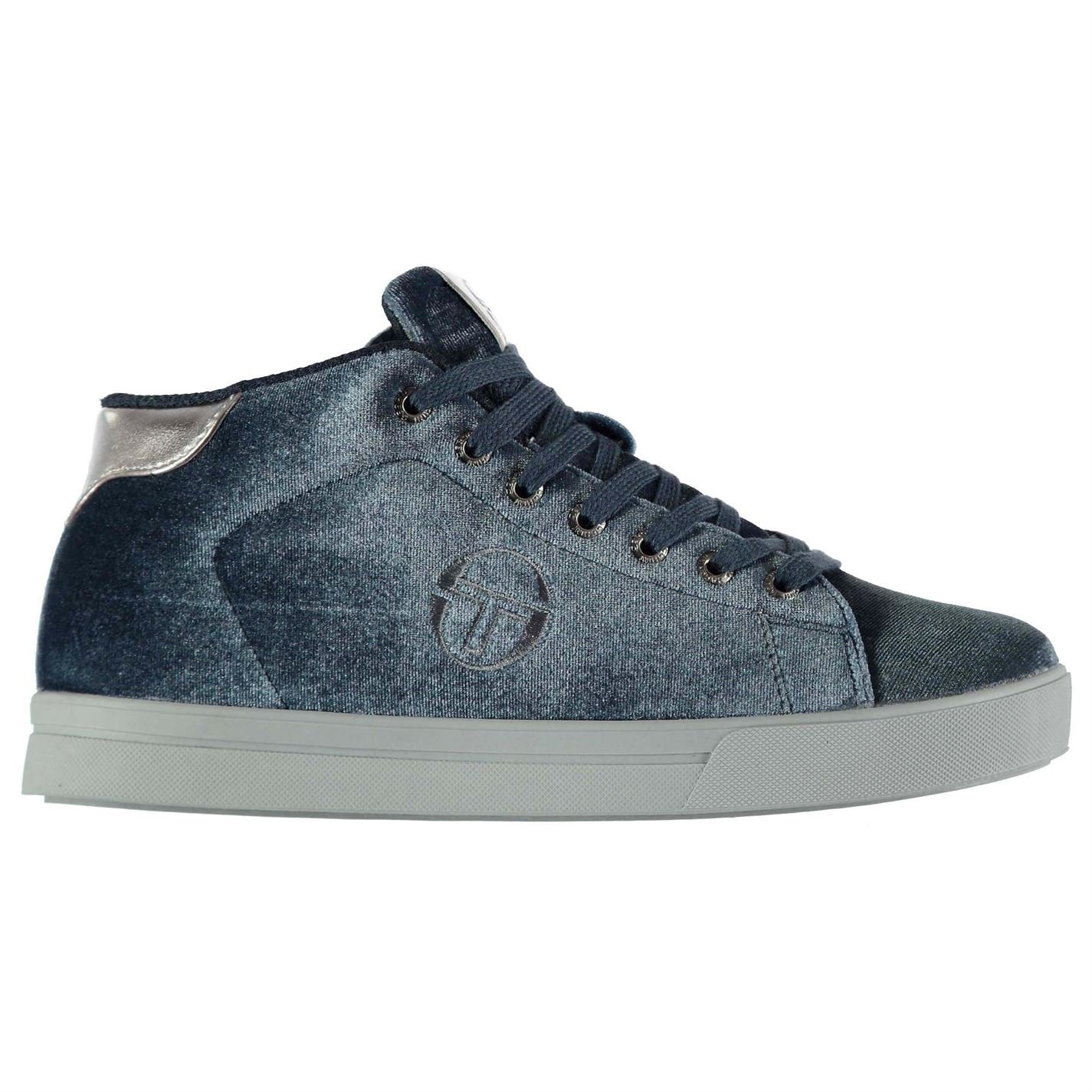 39 Sergio Tacchini Womens Ladies Velvet High Top Trainers Sneakers Shoes Iron UK 6