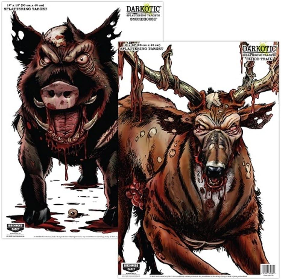 "Birchwood Casey Darkotic Combo - 12"" x 18"" Smokehouse/Blood Trail 4/4 Targets"