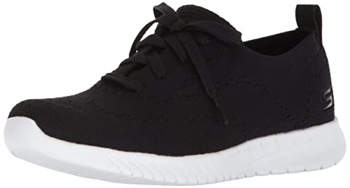 Skechers Wave-Lite-Pretty Philosophy, Zapatillas para Mujer, Negro (Black/White), 38 EU