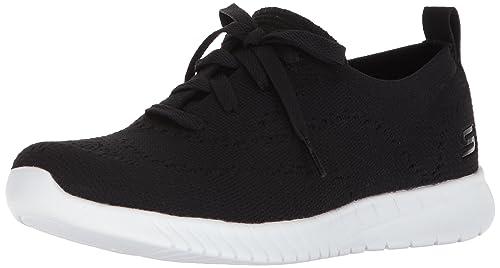 Skechers Wave-Lite-Pretty Philosophy, Sneaker Donna, Nero (Black/White), 36 EU