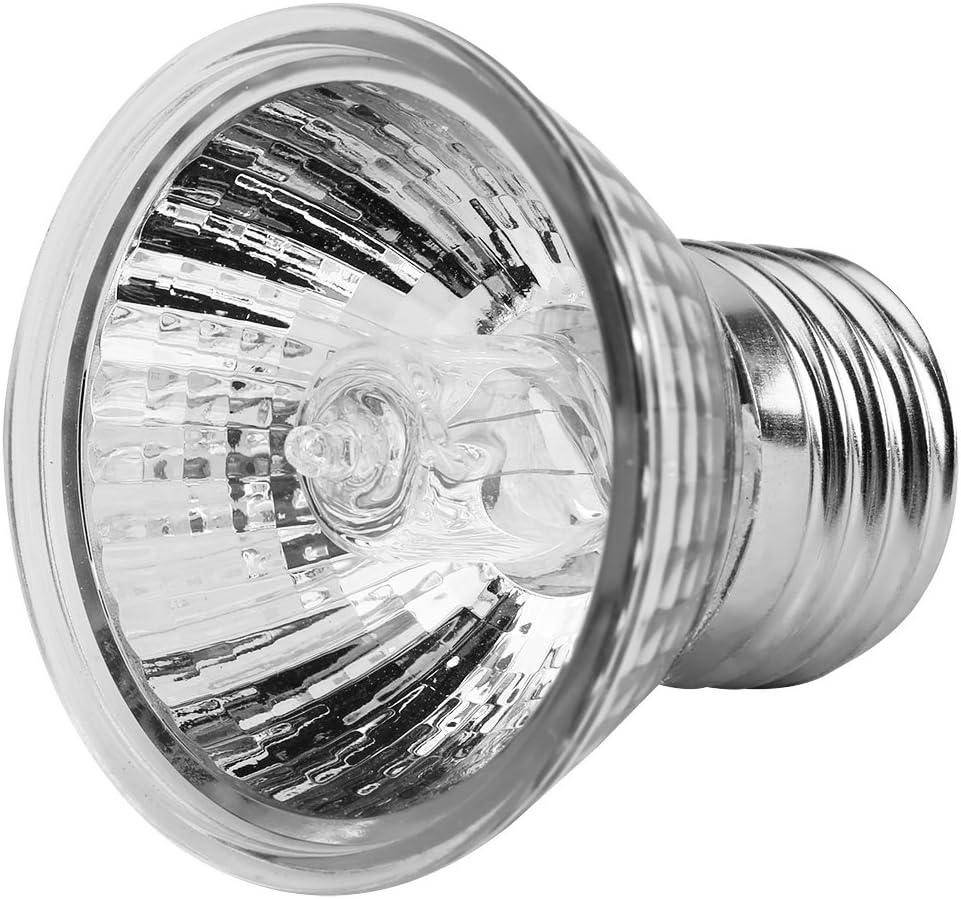 Zerodis 25W / 50W calefacción Bombilla Acuario Sunbath lámpara Tortugas Calor emisor con E27 zócalo para Mascota Reptil(50W)