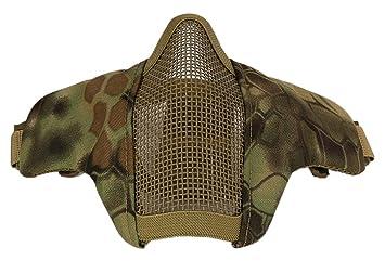 Máscara de Airsoft, Kapmore Máscara de Paintball Strike Steel Half Mascarilla Equipos de Protección al