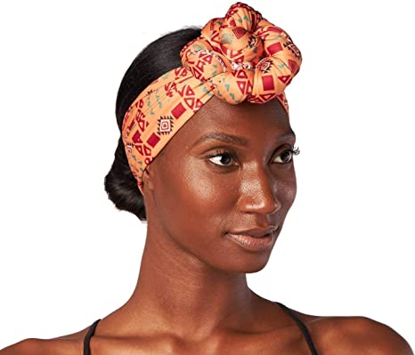 Womens Headwrap Orange Turban Wax Orange Headwrap