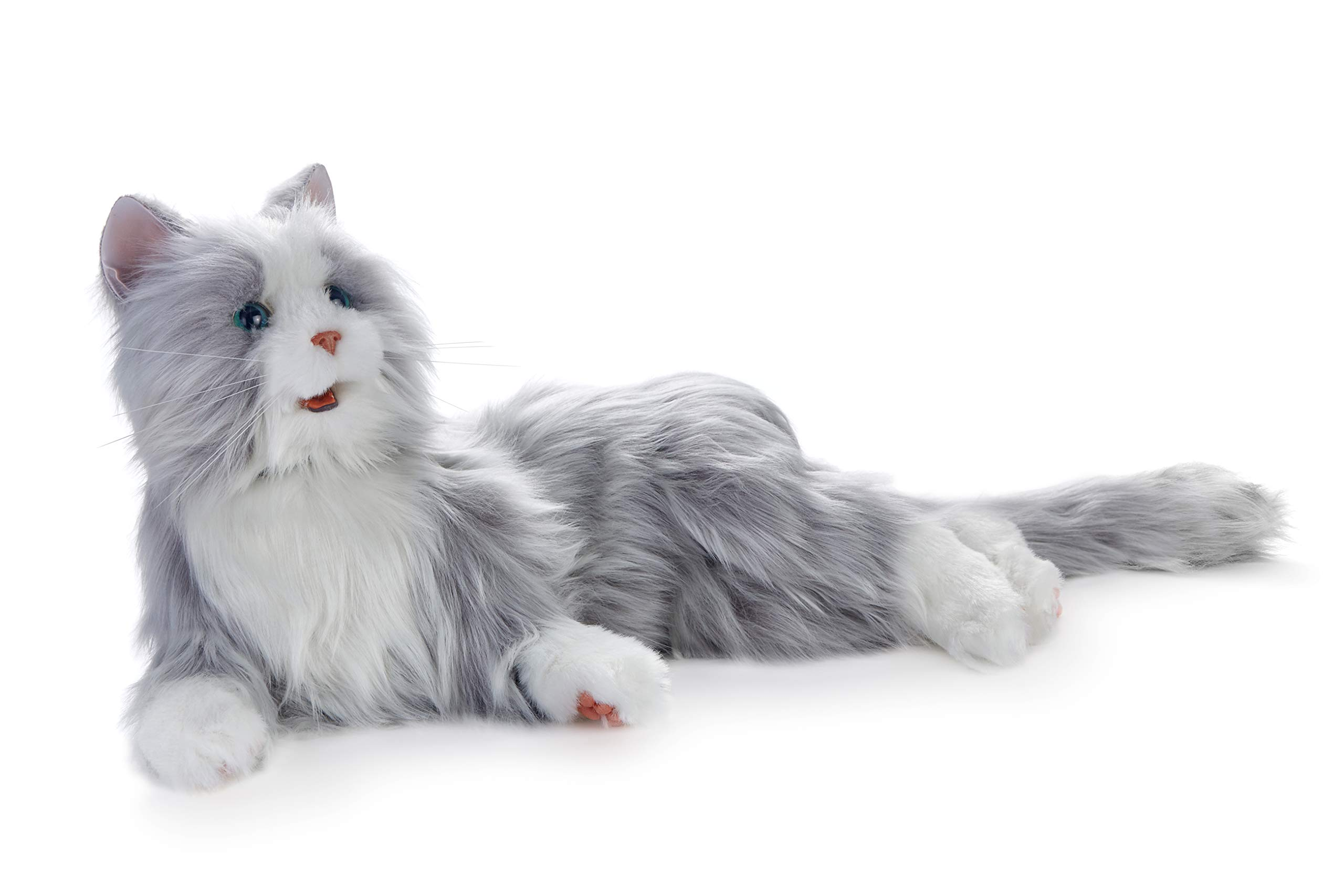 Joy for All Robotic Reclining Silver Grey Cat - for Ages 2 to 102 by Memorable Pets (Image #8)