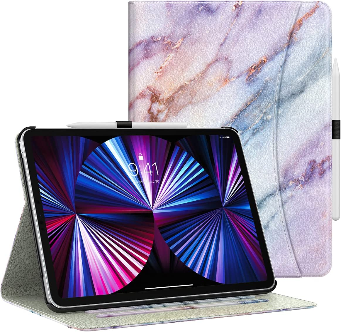Dadanism Case for New iPad Pro 11 inch Case 2021 (3rd Gen) / 2020 (2nd Gen) / 2018 [Multi-Angle Viewing Stand] Lightweight Protective Cover for iPad Pro 11