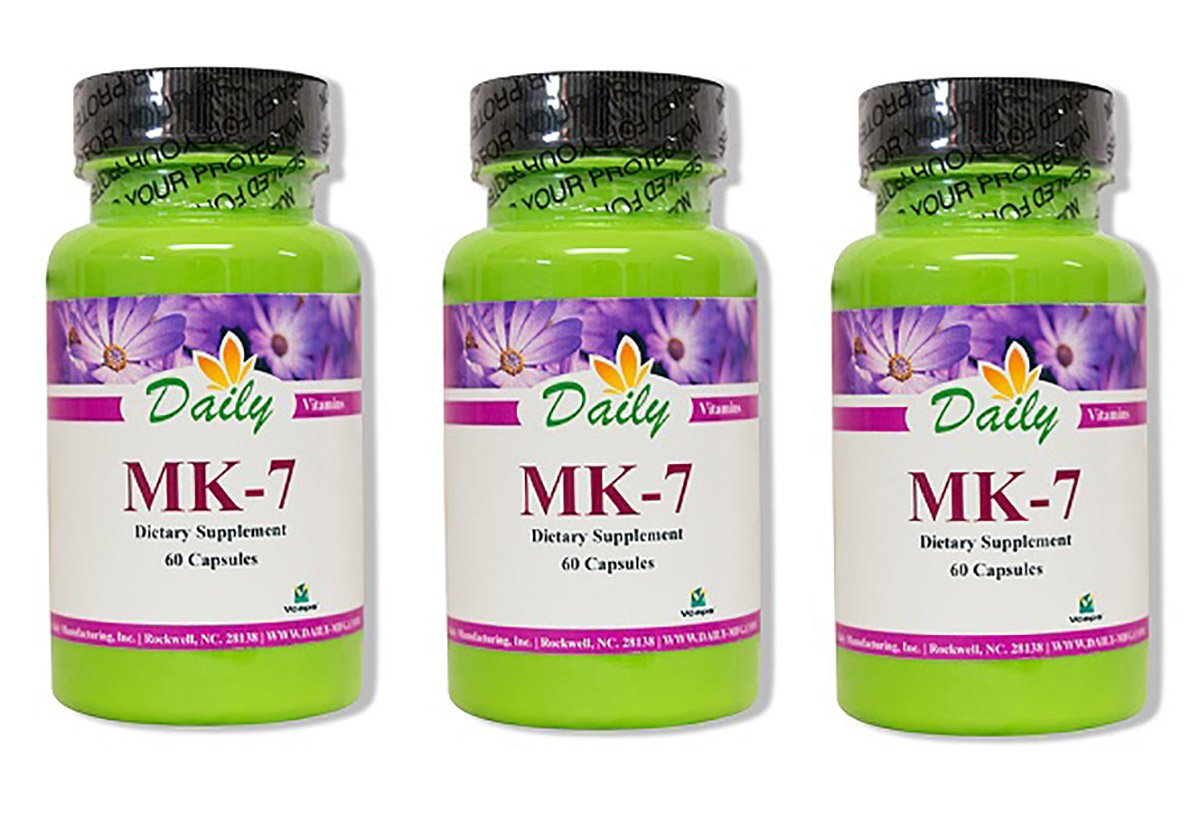 Daily Manufacturing MK-7, 60 Capsules 3 Pack