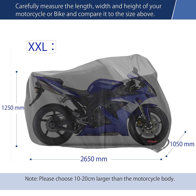 Motorrad Abdeckplane Abdeckhaube Honda Schwarz, XL Limirror Motorradgarage Motorradplane Motorrad Faltgarage Roller-Schutzh/ülle Outdoor /& Indoor f/ür Harley-Davidson 245x105x125 cm Suzuki