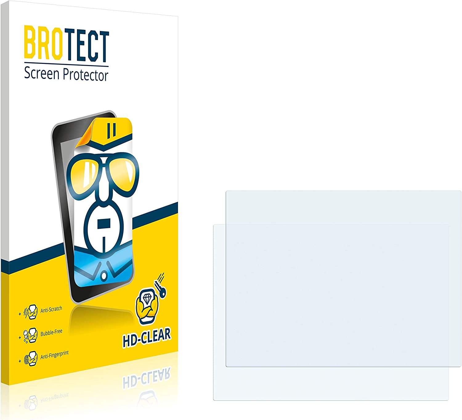 HD-Clear Protection Film brotect 2-Pack Screen Protector compatible with Dell Inspiron 7000 2009 13.3