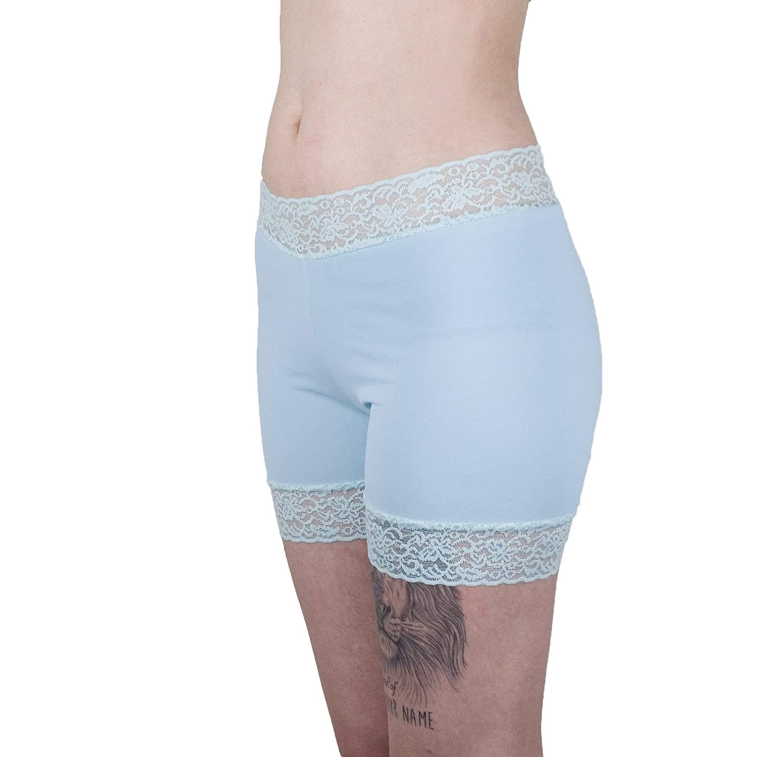 Mint Underpants Lace Trimmed Biker Shorts Women's Boxer Briefs