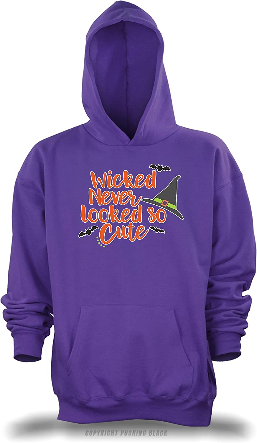 PUSHING BLACK Wicked Never Looked So Cute Unisex Pullover Hoodie