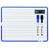Hilroy Double Sided Dry Erase Lap Board Kit, Includes 2 Markers and Eraser, 12 x 9 Inches, White, (6447415847)