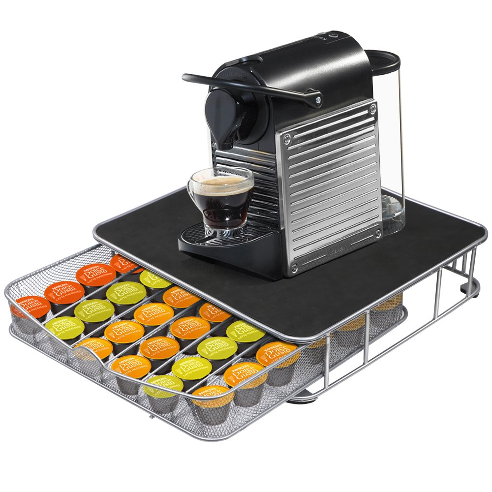 Outdoortips 32pcs Coffee Pods Capsule Revolving Rack Stand Holder for Dolce Gusto Pod tinkertonk