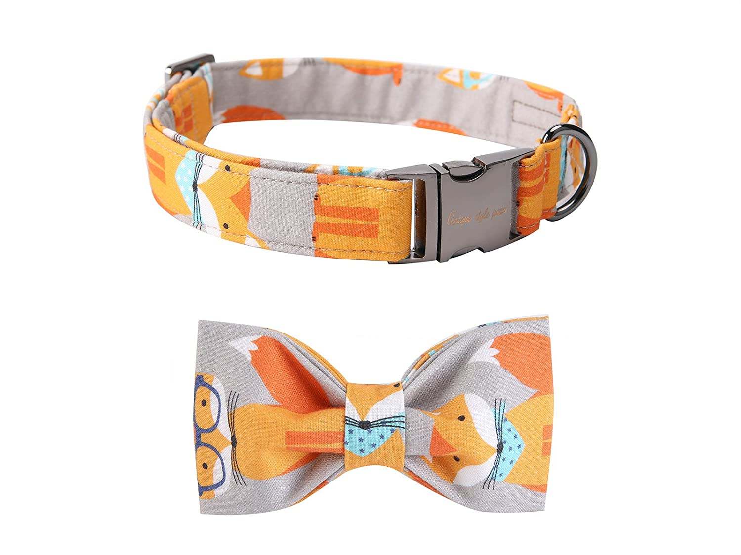 Fox X-Small Fox X-Small Pet Soft &Comfy Bowtie Dog Collar and Cat Collar Pet Gift for Dogs and Cats 6 Size and 7 Patterns