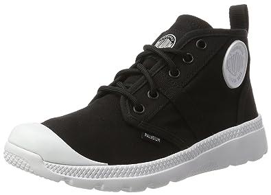 Palladium Pallaville Hi Deux, Sneakers Basses Mixte Adulte, Noir (Black/White), 44.5 EU