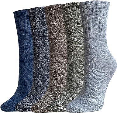 5 Paires Coton Chaussettes Lot Chaud Homme à Rayures Robe Décontractée Chaussettes pour Homme Cadeau