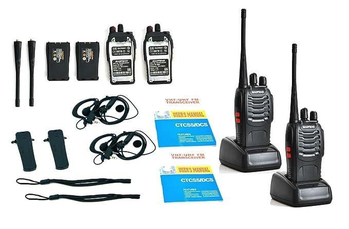 BaoFeng BF-888S UHF400-470MHz 5W Handheld 2way Walkie Talkie Walkie Talkies at amazon
