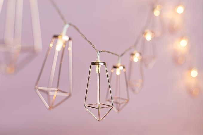 3 m usb oro rosa geometrico boho filo con luci led ideale per