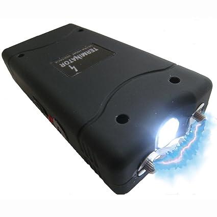 Terminator Stun Gun with Flashlight Max Power Mini Rechargeable Cheap  Reliable Stun Gun With LED